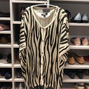 St John gold and black metallic zebra cardigan set